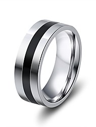 cheap -Men's Women's Band Rings Classic Vintage Stainless Steel Jewelry Wedding Bar