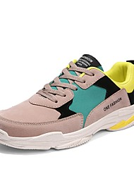 baratos -Homens sapatos Couro Ecológico Couro Arrastão Primavera Outono Solados com Luzes Conforto Tênis Caminhada Corrida para Atlético Ao ar