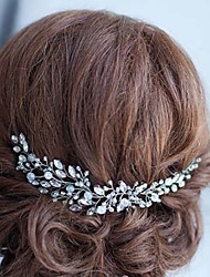 cheap -Alloy Headbands with Crystal 1pc Wedding Special Occasion Headpiece