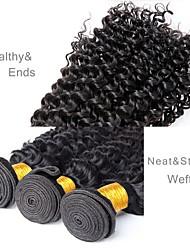 Недорогие -3 Связки Бразильские волосы Крупные кудри Не подвергавшиеся окрашиванию Человека ткет Волосы Ткет человеческих волос Расширения человеческих волос