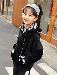 cheap -Girls' Striped Blouse,Cotton Winter Fall Long Sleeve Cute Black Green Blue
