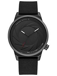 Недорогие -CADISEN Жен. Наручные часы Японский Кварцевый 30 m Защита от влаги Повседневные часы Cool силиконовый Группа Аналоговый Мода Черный - Черный Два года Срок службы батареи