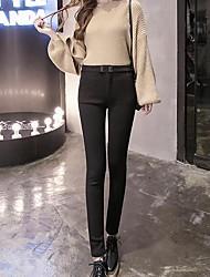 cheap -Women's Retro Cotton Opaque Solid Color Legging,Solid Black White