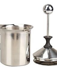 baratos -Bomba de aço inoxidável de 400 ml, café, malha dupla, espuma, filtro, leite, espuma, diy, creme, espumador, cozinha, acessórios