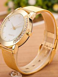 Недорогие -Жен. Наручные часы Кварцевые Diamond Watch Кварцевый Нержавеющая сталь Серебристый металл Повседневные часы Cool Аналоговый Дамы На каждый день Мода - Чёрный / Серебряный Белый / Серебристый Золотой
