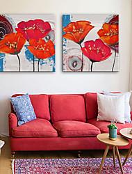 preiswerte -Leinwanddruck Rustikal Modern, Zwei Panele Segeltuch Quadratisch Druck Wand Dekoration Haus Dekoration