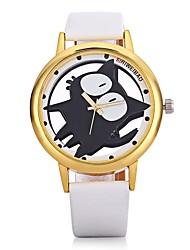 cheap -SHI WEI BAO Quartz Wrist Watch Chinese Casual Watch Leather Band Casual Fashion Black White