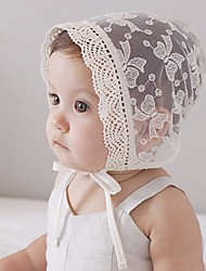abordables -Chapeaux & Bonnets Printemps Coton Bandanas Fille - Blanc