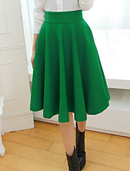 cheap -Women's Simple Pencil Skirts - Solid Colored High Waist