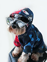 cheap -Dog Hoodie Dog Clothes Reactive Print Camouflage Color Cotton Costume For Pets Stylish / Sportswear / Hip-Hop