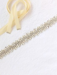 cheap -Satin / Tulle Wedding / Special Occasion Sash With Rhinestone / Imitation Pearl Women's Sashes