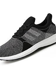abordables -Femme Chaussures Tulle Printemps / Automne Confort Chaussures d'Athlétisme Course à Pied Talon Plat Bout rond Noir / Bleu de minuit / Gris