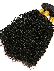 cheap -Brazilian Hair Kinky Curly Natural Color Hair Weaves 3 Bundles 8-28 inch Human Hair Weaves Natural Black Human Hair Extensions Women's