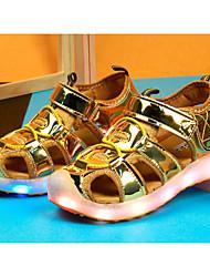 preiswerte -Mädchen Schuhe PU Frühling Sommer Komfort Sandalen für Normal Gold Silber Rosa