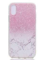 Недорогие -Кейс для Назначение Apple iPhone XS / iPhone XR / iPhone XS Max Прозрачный / С узором Кейс на заднюю панель Мрамор Мягкий ТПУ