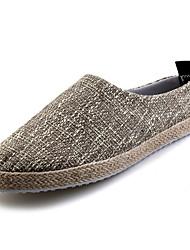 abordables -Homme Chaussures Tissu Printemps Automne Confort Sabot & Mules pour Décontracté Noir Beige Kaki