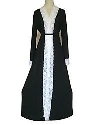 cheap -Fashion Abaya Arabian Dress Women's Festival / Holiday Halloween Costumes Black Lace