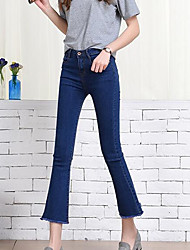 cheap -Women's Jeans Pants - Solid Colored High Rise
