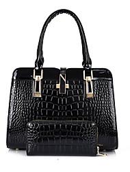 economico -Per donna Sacchetti PU sacchetto regola Set di borsa da 2 pezzi Bottoni Bianco / Nero / Rosso