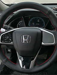 cheap -Steering Wheel Covers Genuine Leather 38cm White / Red For Honda Civic 2016