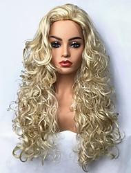 cheap -Synthetic Wig Curly Blonde Synthetic Hair Blonde Wig Long Capless Light Blonde