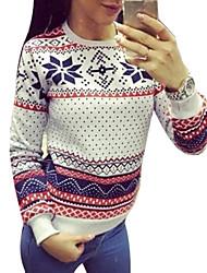 billige -Dame Basale Sweatshirt - Geometrisk, Trykt mønster / Sporty look