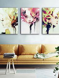 preiswerte -Leinwanddruck Modern, Drei Paneele Segeltuch Vertikal Druck Wand Dekoration Haus Dekoration