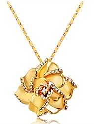 Недорогие -Жен. Ожерелья с подвесками  -  Позолота Классика Золотой Ожерелье Назначение Подарок, Повседневные
