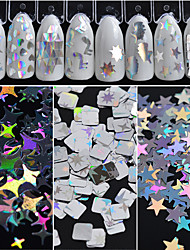 cheap -Nail Glitter / Sequins Irregular Style / Classic / Glamorous & Dramatic Daily Nail Art Design