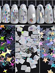 Недорогие -Гель для ногтей / Пайетки Необычный стиль / Классика / Гламурный и эффектный Повседневные Дизайн ногтей