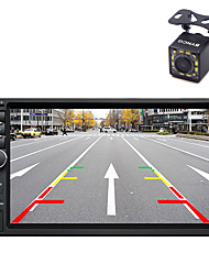 2 Din 7 Inch Bluetooth V2.0 Car Audio Video Car DVD MP5 Player with 12LED CCD Rear View Camera Machine