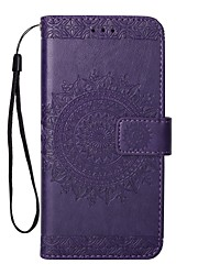 cheap -Case For Huawei P10 Plus P10 Lite Card Holder Wallet with Stand Flip Embossed Full Body Cases Solid Color Hard PU Leather for P10 Plus