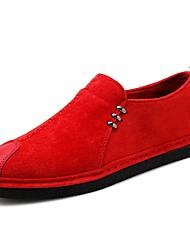 baratos -Homens sapatos Náilon Primavera Verão Conforto Mocassins e Slip-Ons para Casual Ao ar livre Preto Vermelho