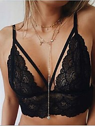 cheap -Women's Other Bras Lace Bras - Solid, Lace Backless