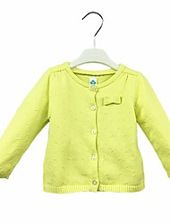 cheap -Baby Girls' Daily Solid Sweater & Cardigan, Cotton Cute Casual Long Sleeves Green