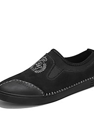 cheap -Men's Light Soles Leather / PU(Polyurethane) Spring / Summer Comfort Loafers & Slip-Ons Color Block Black / Gray / Brown