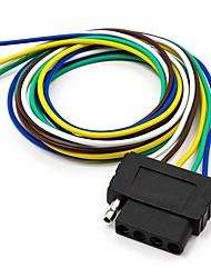 baratos -Conector de conexão de extensão de cablagem de reboque plano de 5 vias