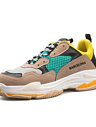 baratos -Mulheres Sapatos Couro Ecológico Primavera Outono Conforto Tênis Corrida Sem Salto Ponta Redonda Dedo Fechado para Atlético Casual Preto
