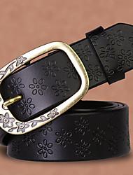 Недорогие -женский неподдельный кожаный широкий пояс, хаки черный белый случайный
