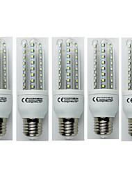 cheap -5pcs 9W 720lm E27 LED Corn Lights T30 48 LED Beads SMD 3528 Cold White 110-240V