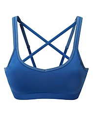 cheap -Sports Bra Padded Light Support For Running - White / Blue Stretchy Women's Solid Colored Nylon