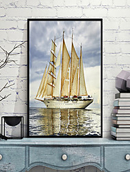 economico -Paesaggi Ad olio Decorazioni da parete,Polistirolo Materiale con cornice For Decorazioni per la casa Cornice Salotto