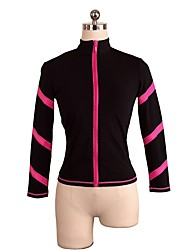 cheap -Figure Skating Top Women's Girls' Ice Skating Top Pink Blue Spandex Stretchy Performance Practise Skating Wear Solid Long Sleeves Ice