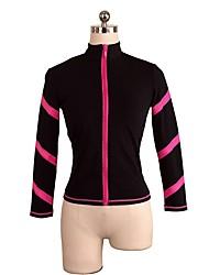 abordables -Vestes Polaires de Patinage Artistique Femme / Fille Patinage Hauts / Top Bleu / Rose Spandex Elastique Utilisation / Exercice Tenue de