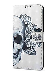 cheap -Case For Vivo vivo X20 Plus vivo X20 Card Holder Wallet with Stand Flip Magnetic Pattern Full Body Cases Skull Hard PU Leather for Vivo