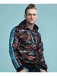 cheap -Men's Sports Active Street chic Long Sleeves Hoodie - Camouflage, Mesh
