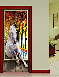 cheap -Landscape Animals Wall Stickers Plane Wall Stickers 3D Wall Stickers Decorative Wall Stickers, Paper Vinyl Home Decoration Wall Decal Wall