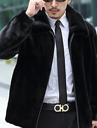 Jednobarevné Denní Na běžné nošení Kabát-Zima Bavlna Akryl Do V Dlouhé rukávy Dlouhé Velkoformátové