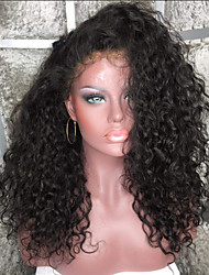 Недорогие -Натуральные волосы Полностью ленточные Парик Бразильские волосы Kinky Curly Стрижка каскад Стрижка боб С пушком С чёлкой 130% плотность