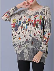 preiswerte -Damen Langarm Fledermaus Ärmel Pullover-Geometrisch